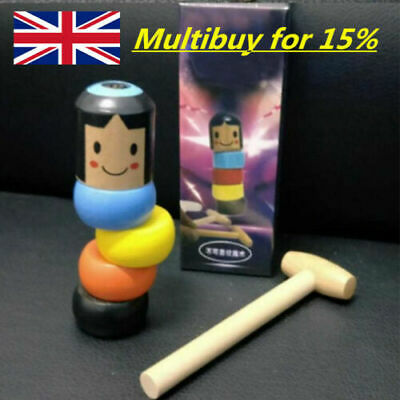 UK Immortal Doll by PROMA Magic Stubborn Magic Toy Wooden Man Funny Wooden --