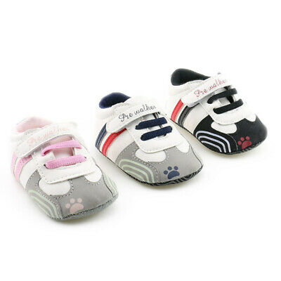 Prewalker Sneakers Pu Crib Baby Infant Shoes Sole Trainers Toddler First Girl