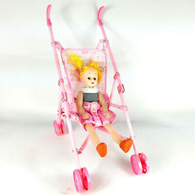 DOLL BUGGY Pram Pushchair Stroller Toy for Baby Kids Girls Xmas Birthday Gift