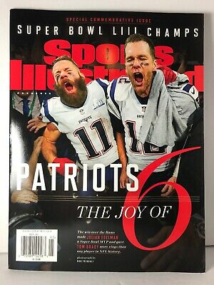 Sports Illustrated NEW ENGLAND PATRIOTS The Joy of 6 Magazine super Bowl Champs!
