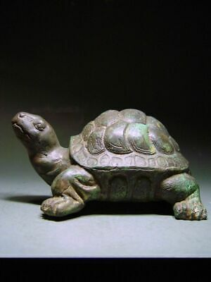 A KHMER BRONZE 'LAND TORTOISE' ANGKOR WAT TEMPLE RELIC. CAMBODIA 19/20th C.