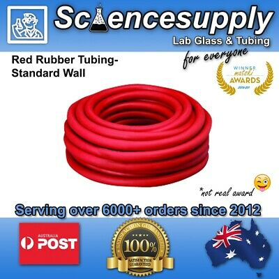 Classic Red Rubber Tubing various sizes tube lab chemistry vacuum lab laboratory