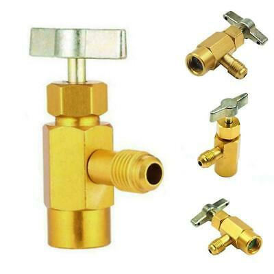 """1/4SAE AC Refrigerant Gold Brass Can Tap Dispensing Thread New 1/2""""Acme Val Y0U3"""