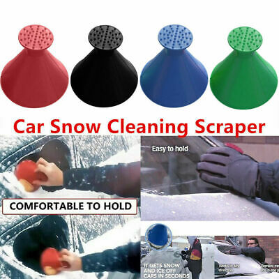 Universal Car Windshield Magic Ice Scraper Tool Cone Shaped Funnel Remover Snow