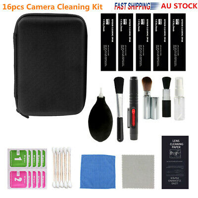 AU 16PCS Professional Camera Cleaning Kit For Camera Lens Screen Mobile Phones