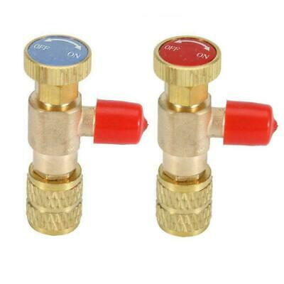 "2pcs R22 R410A Refrigeration Charging Adapter For 1/4"" Service Safety CAO V U3A5"