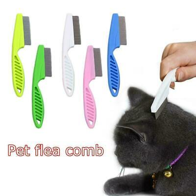 Pet Fur Shedding Pet Dog Cat Hair Brush Kit Fur Grooming Comb Rake Trimmer E6N6