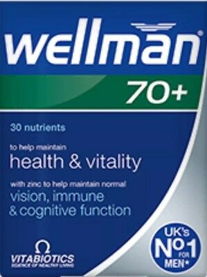 Vitabiotics Wellman 70+ Health & Vitality In Your 70S & Beyond,  30 Tablets