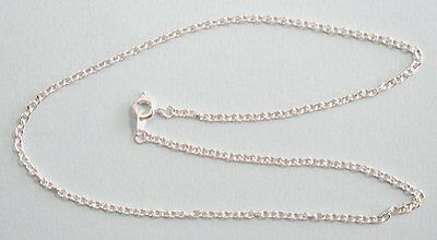 """Pack of 10 x 20/"""" Silver Plated Very  Fine Trace chains J2049c"""