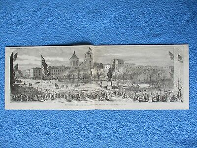 # 1885 Civil War Print - Mass Meeting at Union Square, New York, April 20, 1861
