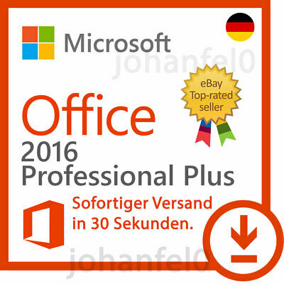 Microsoft Office 2016 Professional Plus Pro Lizenzschlüssel Product Key 32/64BIT
