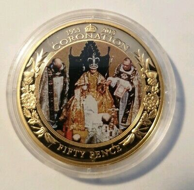 Elizabeth Ii Bailiwick Of Guernsey 2013 - Coronation 60 Years Commerative Coin