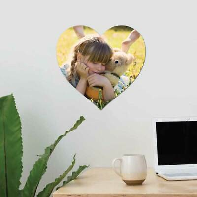 Personalised photo wall picture acrylic heart oval photo frame add your image