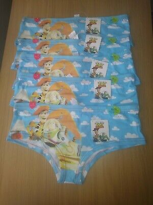 Ladies/Girls Hipster Pants 5 pairs Toy Story Size 10-12 New Tags FREE POSTAGE.