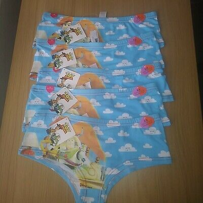 Ladies/Girls Hipster Pants 5 pairs Toy Story Size 6-8  New Tags FREE POSTAGE.