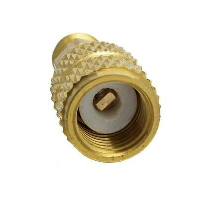 "1/4 inch R410A Brass Refrigerant Adapter Male 5/16"" Hose Charging Female Pu X1K8"