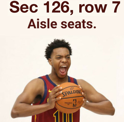 (2) Tickets - Sec 126, row 7 - Golden State Warriors Cavs @ Cleveland Cavaliers