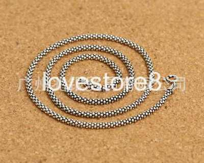 Pure S925 Sterling Silver Retro Wild Classic Sell Well Chain Necklace