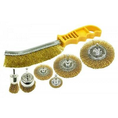 Rolson 7pc Wire Brush Set - Paint / Rust Removal / Car Body Repair