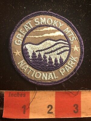 Vintage Great Smoky Mountains National Park Patch Tennessee & N. Carolina 90RA