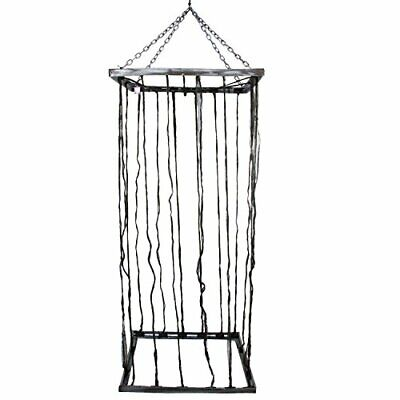 Halloween Haunters Hanging 7 Foot Prison Jail Cell Cage (Square Jail Cell)
