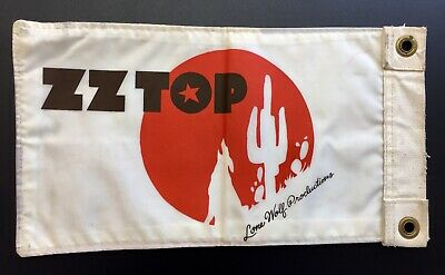 ZZ Top  Vintage Lone Wolf Productions Promo Flag 1970s Rare!! Texas State Flag