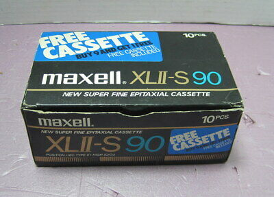 Box of 10 Maxell XL II-S 90 Cassette Tapes