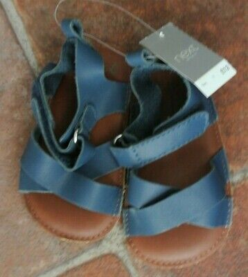 New Next Baby Boys Leather Sandals Navy size infant 3  last one