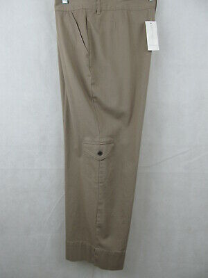 ALLISON Fit Charter Club Croped Womens Cargo Pants Size 12 Beige Mushroom Color