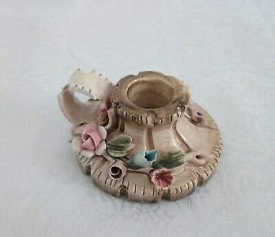 Vintage Candle Holders Porcelain Candlestick Decorative Shelf Decor Capodimonte