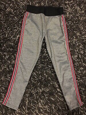Next Girls Trousers Age 6 Black & White Houndstooth Pattern