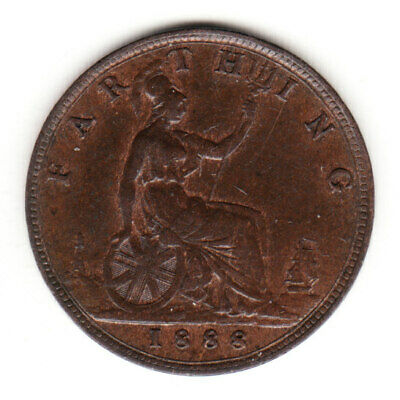 1888 Great Britain Queen Victoria 1 One Farthing. High Grade.