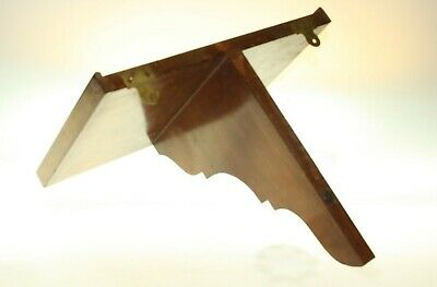 Solid Mahogany Wall Bracket 35cm x 23cm with 1 Support & 2 Brass Fixings