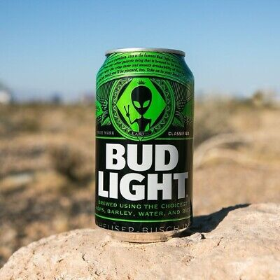 "3 Bud Light Green Alien Limited Edition """"AREA 51"""" ""Earth Cans"" Rare"