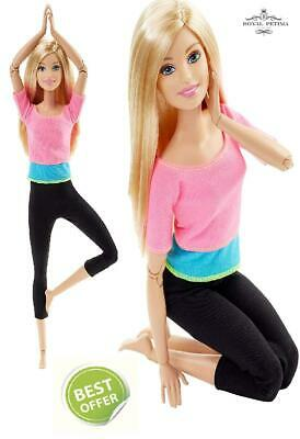 Barbie Endless Moves Made to Move *22 JOINTS* Fitness Doll with Pink Top New