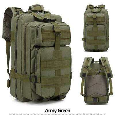 30L Sport Outdoor Military Rucksacks Tactical Backpack Hiking Camping Army Green