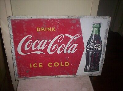 COCA COLA TIN SIGN-LATE 50s - EARLY 60s