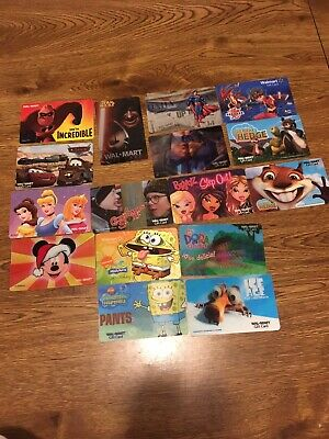 Collectible character gift cards, no value!!!