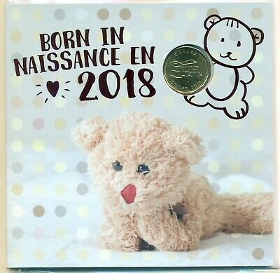 Born In 2018 BABY GIFT SET with CLASSIC DESIGN COINS and SCARCE $1 DOLLAR COIN
