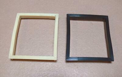 ORIGINAL 1940's GENERAL TELEVISION IVORY & BLK TENITE PLASTIC DIAL WINDOW FRAMES