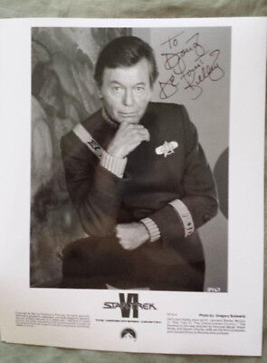 DEFOREST KELLEY Autographed 8x10 Promo Photo Star Trek VI -Undiscovered Country