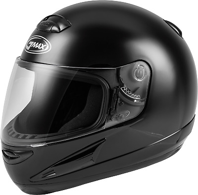 Black//Large GMAX OF-17 Adult Solid Open-Face Motorcycle Helmet