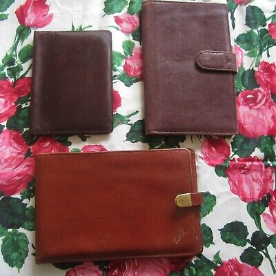 3 Vintage Mens Retro Hipster Leather Wallet Card Holder Travel Organiser Artex