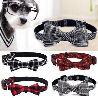 Dog Cat Pet Bowknot Cute Bow Tie Adjustable Puppy Kitten Necktie Collar Suit New
