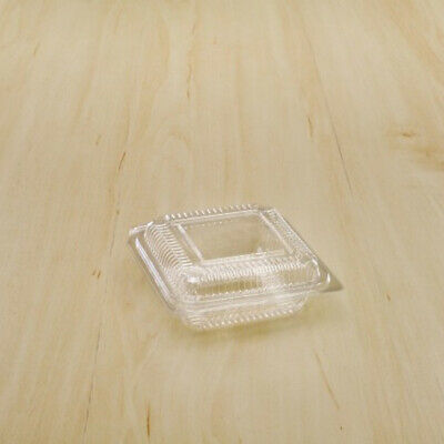 50 Disposable Food Storage Containers With Lids Clear Plastic Bakery Boxes 3x3""