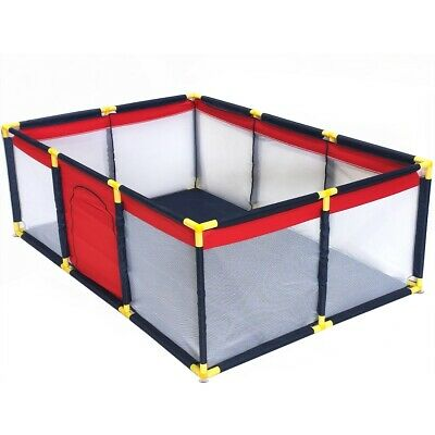 Fabric Baby ToddlerLPlaypen Foldable Portable Exercise Cage Fence Enclosure L