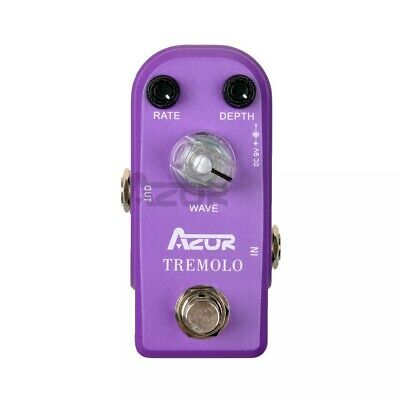 AZOR Tremolo Pedal AP-317 Mini Guitar Effect Pedal Guitar Pedal with True Bypass