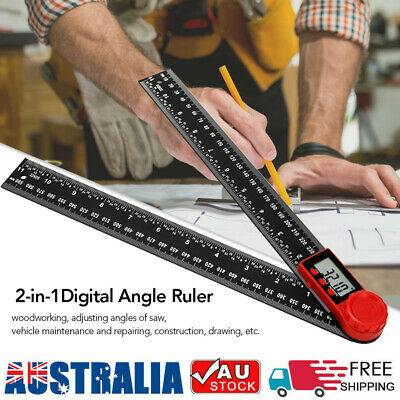 Electronic Digital Protractor Angle Finder 360 Degrees Inch Metric Scale Rulers