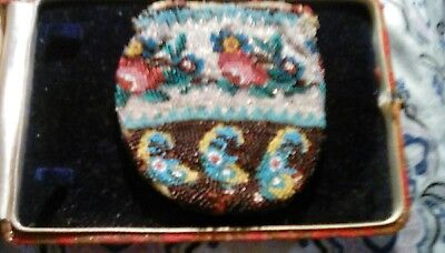 Historical Indian Micro beaded Coin purse