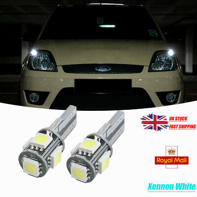 2x NUMBER PLATE BULBS LED 6 SMD 36MM CANBUS WHITE FORD FIESTA 5 V 2001-2008